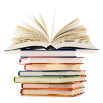40390638 - stack of books isolated on white background.